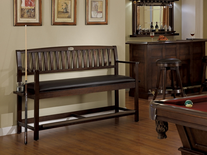 Legacy Backed Classic Pool Table Accessories Storage Bench