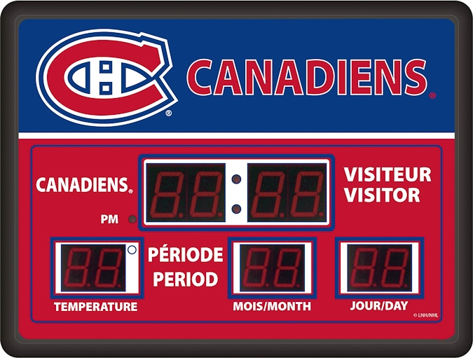 Scoreboard LED Hockey Wall Clock