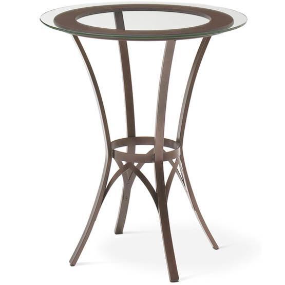 Table de bar Kai avec insertion de bois