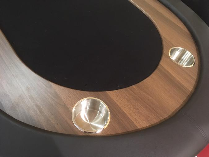 Table de poker pliante noire