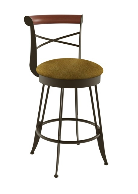 tabouret amisco historian pivotant pour cuisine ou bar. Black Bedroom Furniture Sets. Home Design Ideas