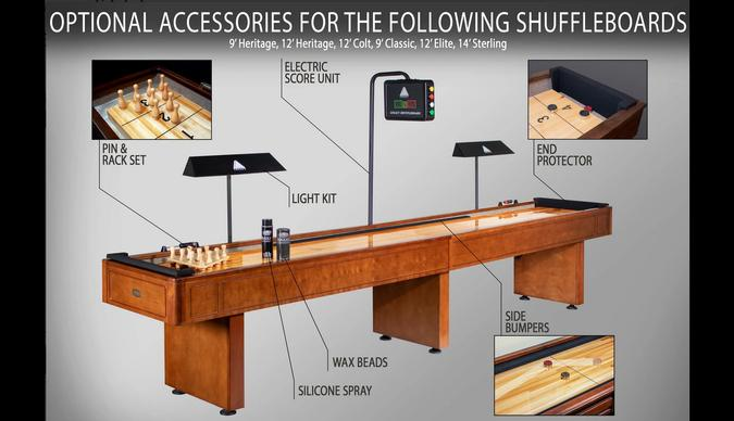 Table shuffleboard Destroyer Legacy 12 pieds