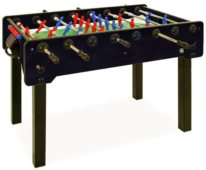 Table de babyfoot soccer noire Longoni Striker