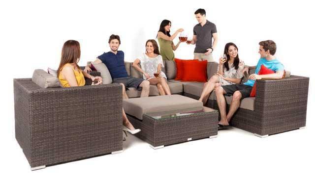 Ensemble de meubles sectionnel modulaire de patio liana 6 for Ensembles de meubles de patio ikea