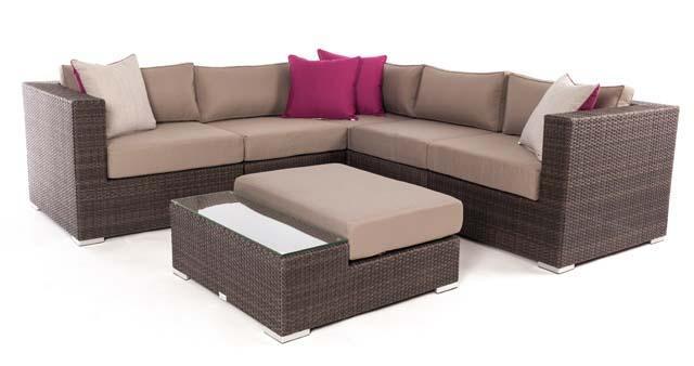 Ensemble de meubles sectionnel modulaire de patio Liana 6 pièces