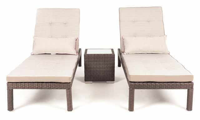 Chaises longue pour ensemble patio ext rieur et mobilier - Chaise aluminium exterieur ...