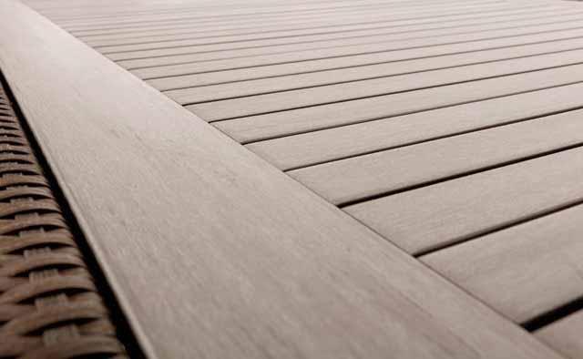 Table à dîner patio rectangulaire Ciro pour 8 avec surface en bois Teck synthétique composite