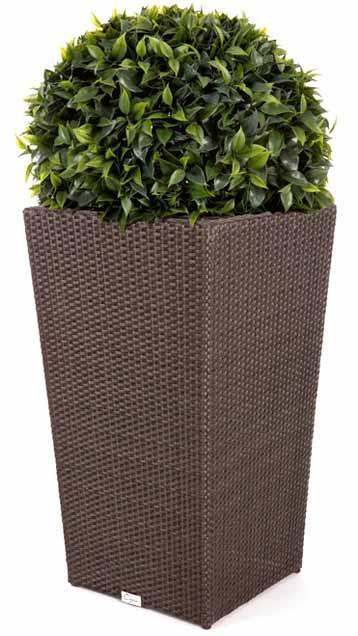 cache pot en rotin synth tique grand pour ensemble patio ext rieur. Black Bedroom Furniture Sets. Home Design Ideas