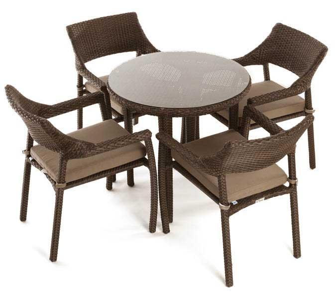 ensemble de table bistro patio pour 4 personnes. Black Bedroom Furniture Sets. Home Design Ideas