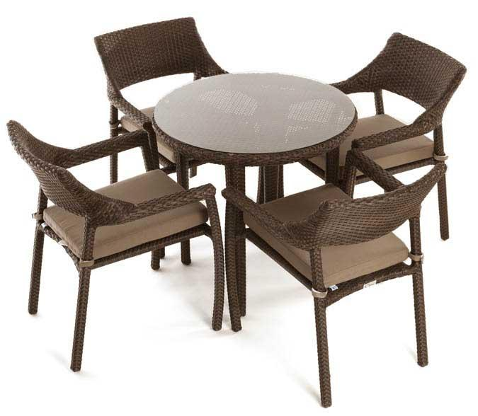 Four Person Bistro Patio Table Set ...