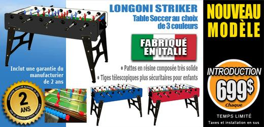 Table de babyfoot soccer Longoni Striker