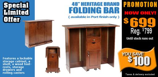 Heritage 48 inch folding residential bar