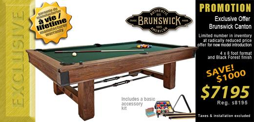 Brunswick Canton new model introduction reduced price offer
