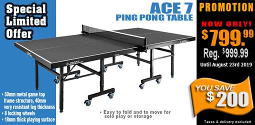 High quality Ace 7 ping pong table tennis