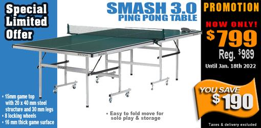 Brunswick Smash 3.0 ping pong table tennis