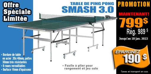 Table de jeu tennis Brunswick Smash 3.0 ping pong