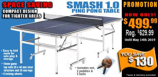 Discount on Brunswick Smash 1.0 Space Saver ping pong table tennis