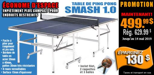 Table Tennis Brunswick Smash 1.0 ping pong en rabais