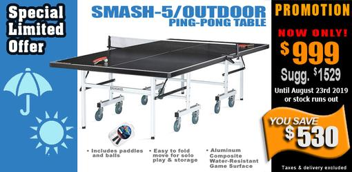 Smash 5 OUTDOOR ping pong table