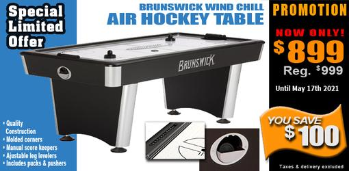 Brunswick Wind Chill quality air hockey game table