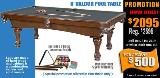 Ball and claw leg 8 foot pool table