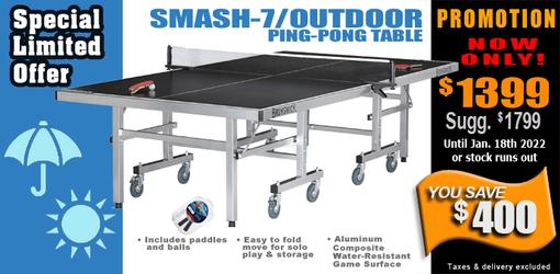 Brunswick Smash 7.0/Outdoor ping pong table tennis