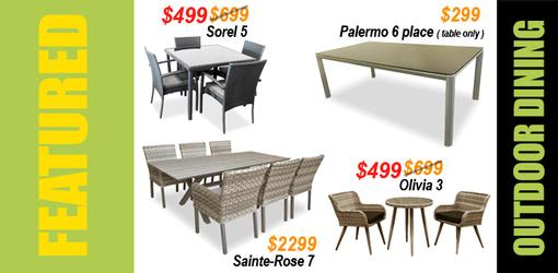 OUTDOOR DINING TABLES • FEATURED PRODUCTS