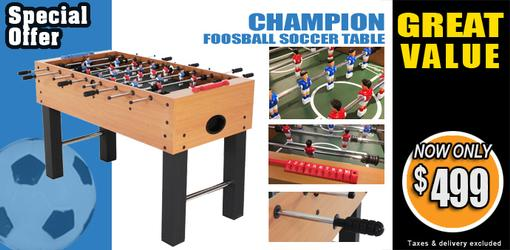 Champion foosball soccer table new model introduction