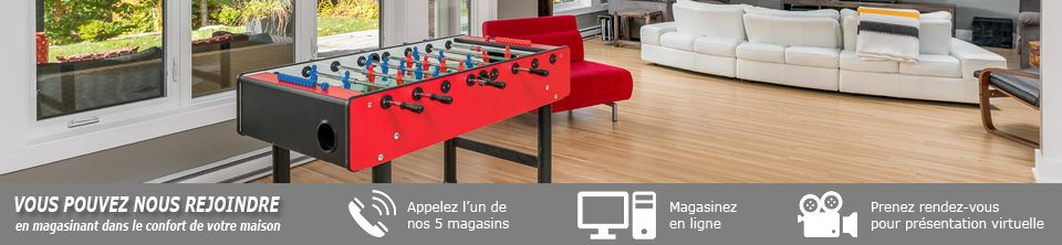 Tables de jeux - Soccer babyfoot, ping pong, hockey et plus